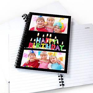 Black Three Collage Notebook