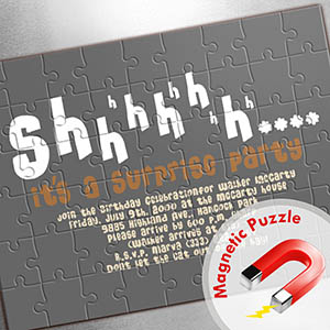 Large Magnetic Personalized Message Puzzle, Sunshine Smiles