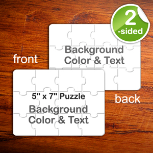5x7 Double Sided Personalized Puzzle Invitation