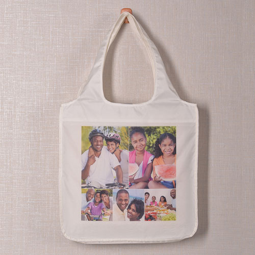 5 Collage Reusable Shopping Bag, Classic