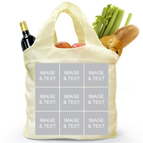 9 Collage Reusable Shopping Bag, Elegant