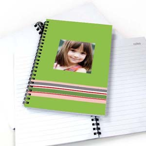 Colorful Stripes Notebook, Green