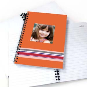 Colorful Stripes Notebook, Orange