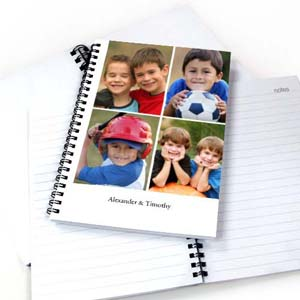 White Four Collage One Title Notebook