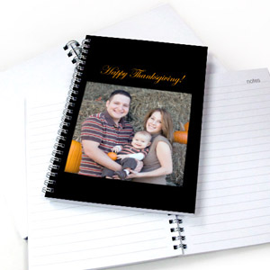 Square Photo Black One Title Notebook