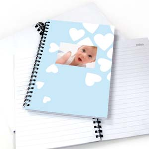 We Heart Baby Boy NoteBook