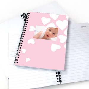 We Heart Baby Girl NoteBook