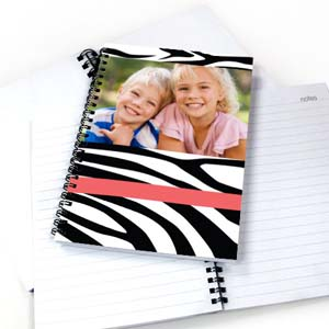 Zebra Pattern Photo NoteBook, Hot Pink