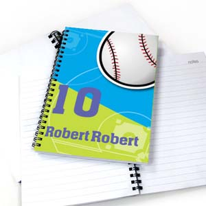 Personalized Athletic Notebook, Baseball