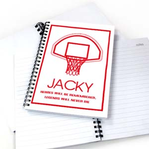 Personalized Basketball Notebook