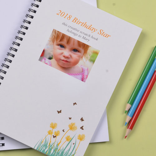 Spring Flowers Photo Notebook