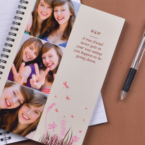 Three Collage Spring in Pink Photo Notebook