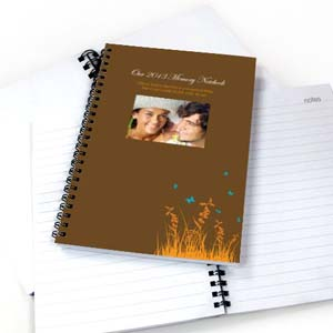 Autumn Background Photo Notebook