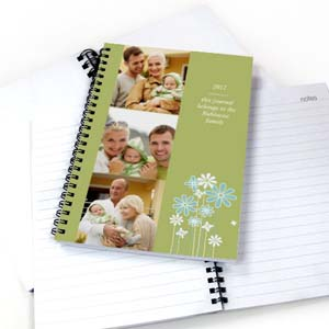 Three Collage Modern Floral Photo Notebook