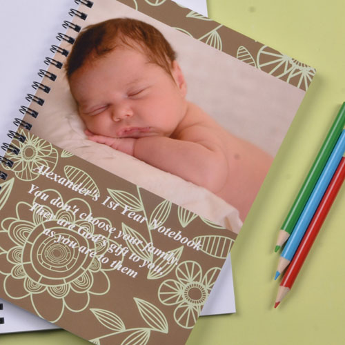 Field of Flowers Photo Notebook