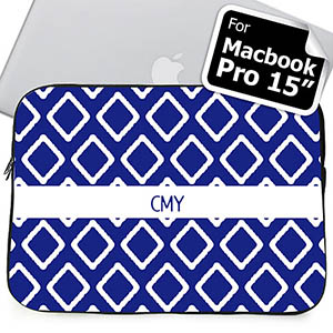 Custom Initials Blue Lkat MacBook Pro 15 Sleeve (2015)