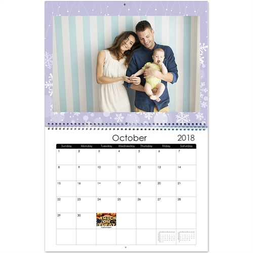 Personalized Happy Flowering, 11X14 Wall Calendar