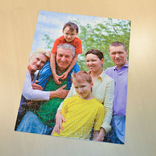 Jumbo 500 Pc Portrait Photo Puzzle 18x24, Personalized Box