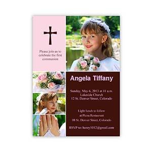 Elegant Cross - Princess Collage Communication Invitation