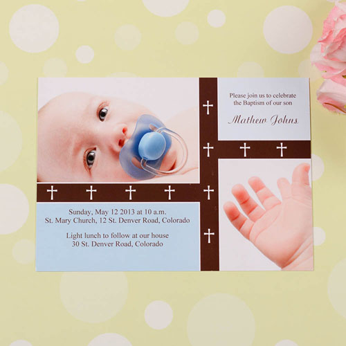 Crossing Bands – Aloe Baptism Collage Invitation