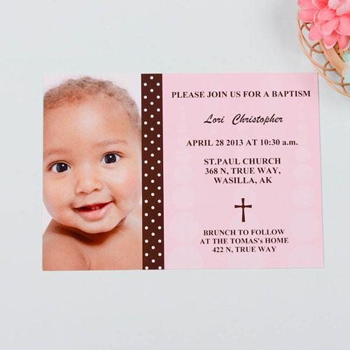 Child of God – Girl Baptism Photo Invitation