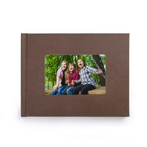 8.5x11 Brown Linen Hard Cover