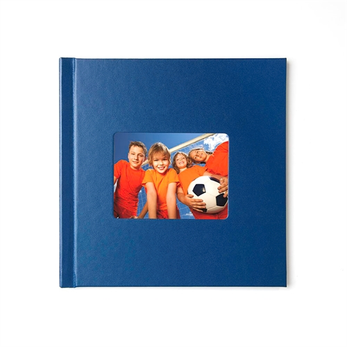 8x8 Navy Leather Hard Cover