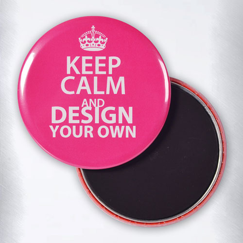 Round Hot Pink Keep Calm Personalized Text