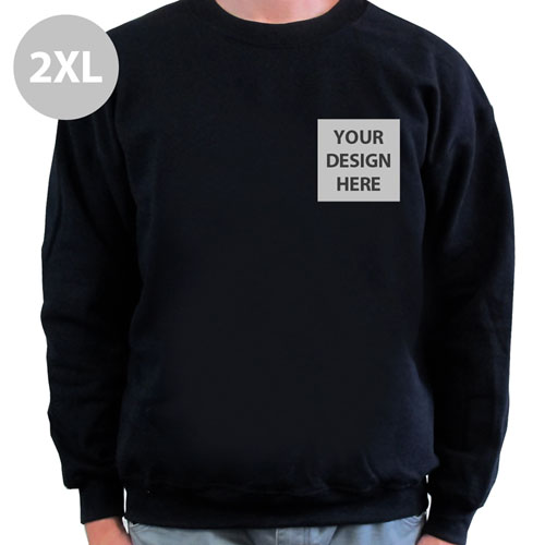 Create Your Own Print Your Logo Black Sweatshirt, 2XL