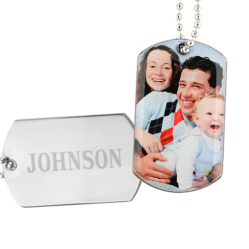 Personalized Picture Perfect Photo Dog Tag Pendant