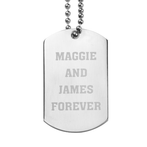 Personalized Stainless Steel Engraved Dog Tag Pendant