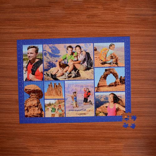 Navy Nine Collage 18 x 24