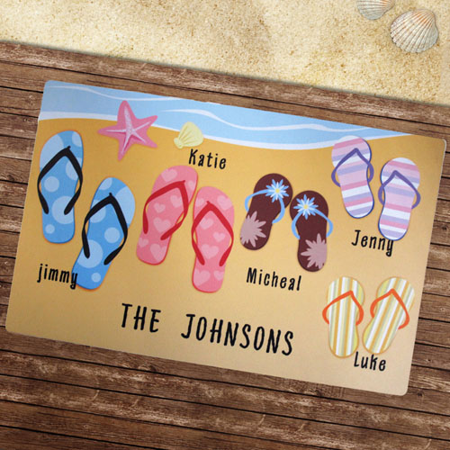 Personalized Flip Flops Beach House