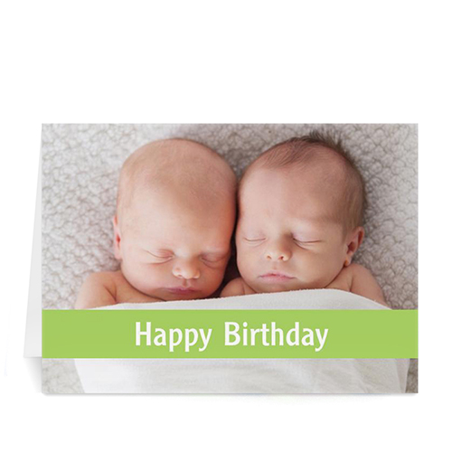 Birthday Lime Photo Cards, 5x7 Folded Causal