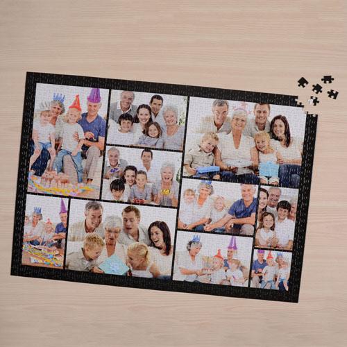 Black ten collage puzzle 1000 piece for Custom 5000 piece puzzle