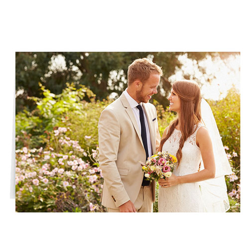Wedding Photo Cards, 5x7 Landscape Folded