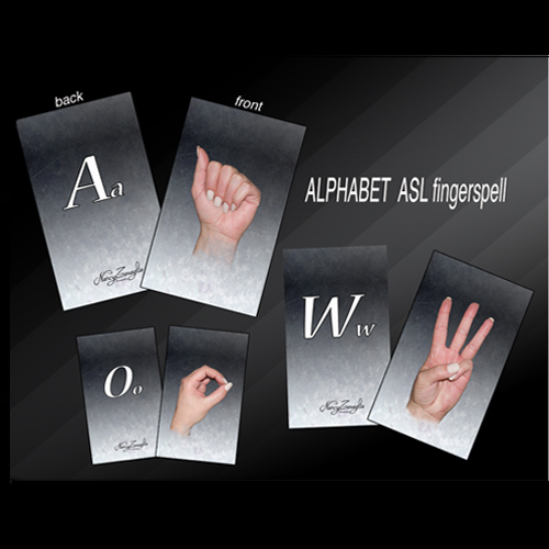 ABCs with letters (america sign language)