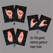America Sign Language Dark ABCS