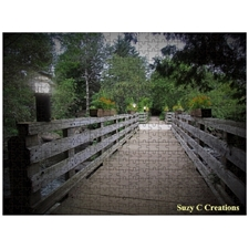 BRIDGE TO THE MAGICAL FOREST PUZZLE by SUZY C CREATIONS