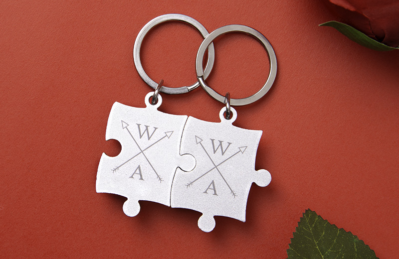 Keep your loved one close by with Couple Key Chains