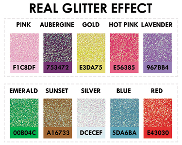 Real Glitter Cards